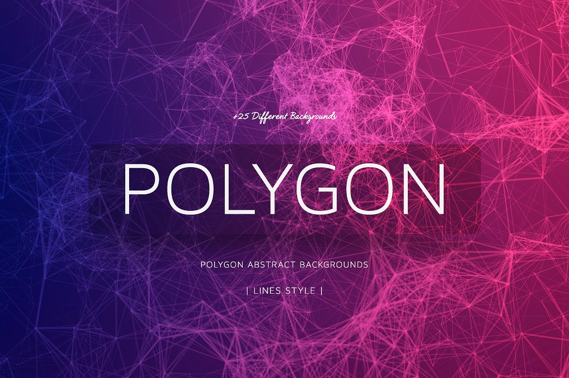 Polygon Abstract BGs Lines Bundle 4K