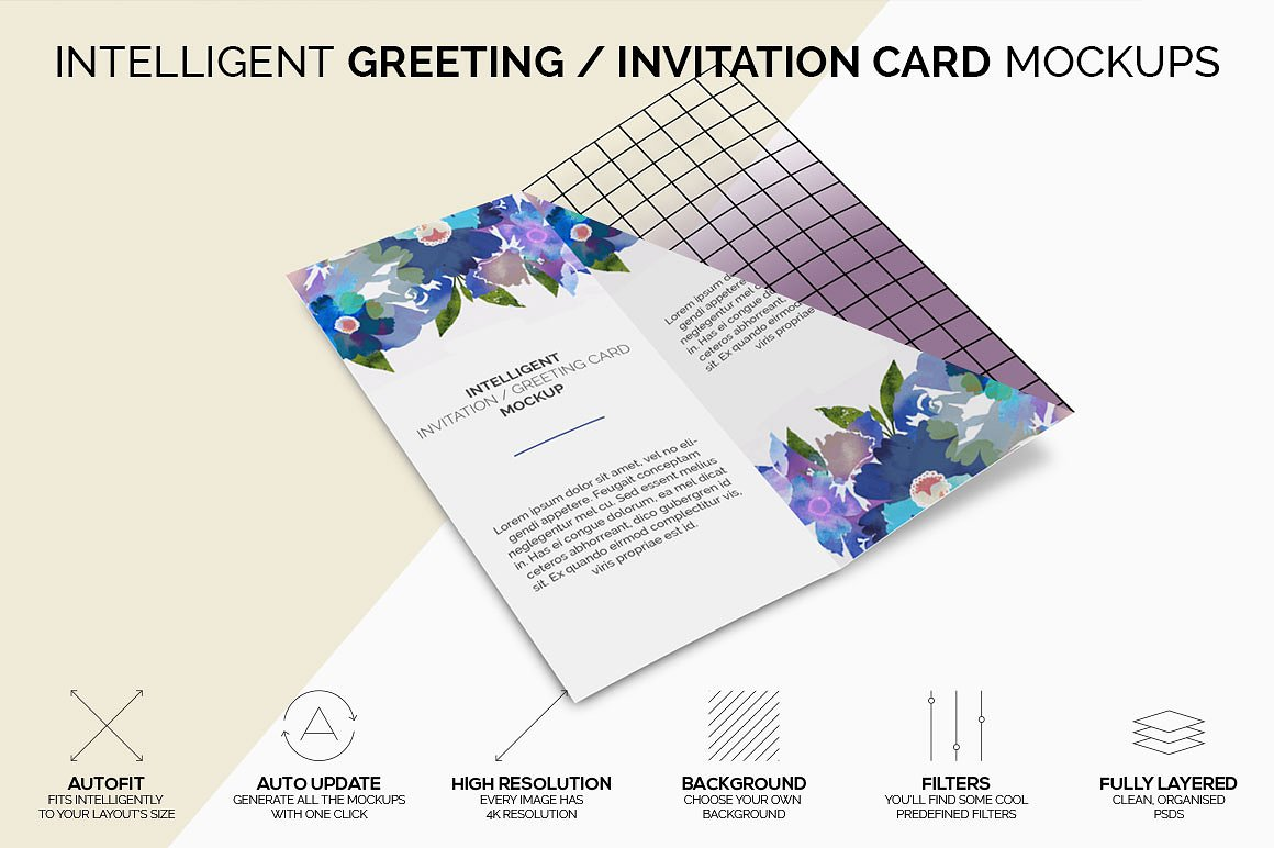 50 invitation greeting card mockup designs decolore intelligent greeting invitation card mockup m4hsunfo