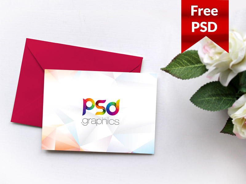 Invitation Card Mockup Free PSD