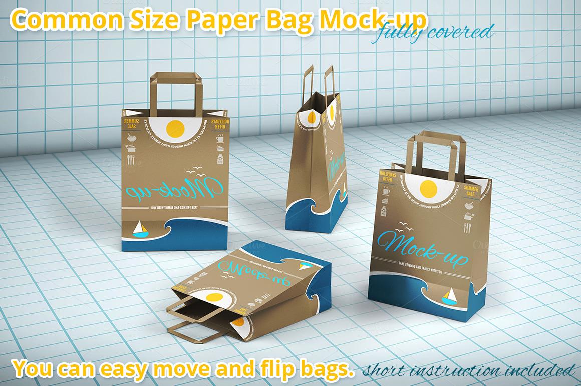 Ping Paper Bag Mockup