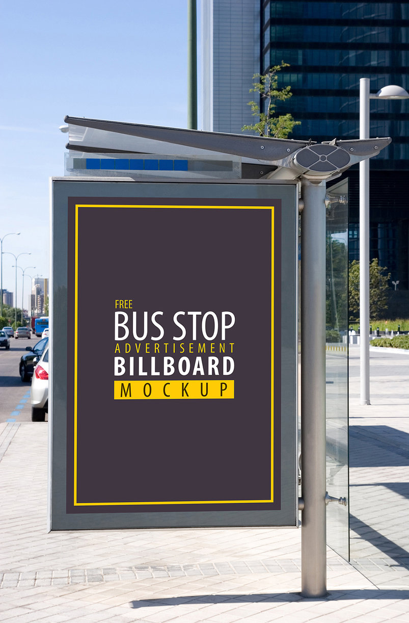 35 realistic bus stop advertising psd mockup templates decolore net