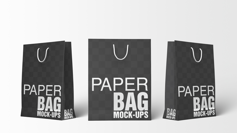 Paper Ping Bags Mockups Bundle