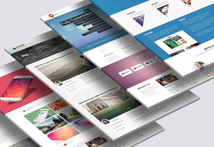 30 perspective website design psd mockups decolore net