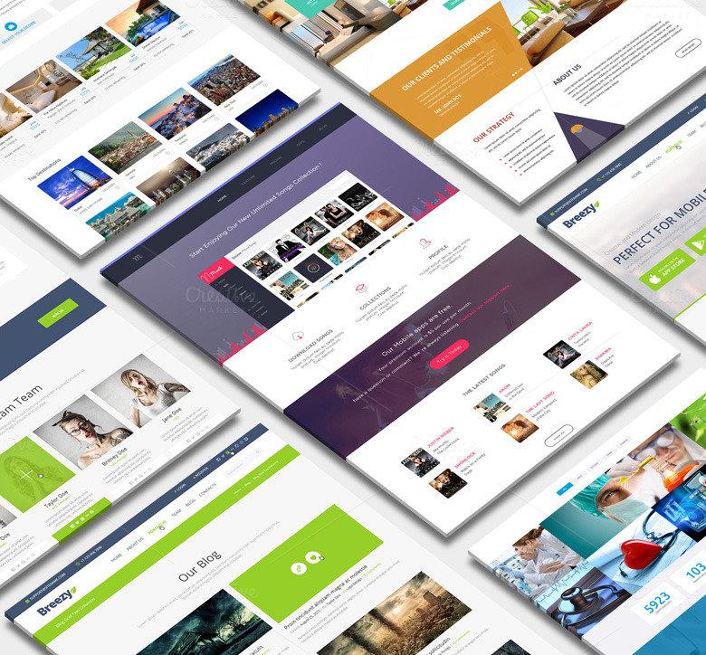 30+ Perspective Website Design PSD Mockups