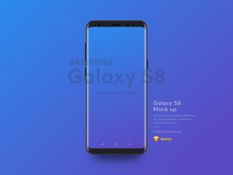 Samsung S8 Mockup Free (Sketch)