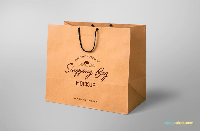 Simple And Ealing Free Ping Bag Mockup