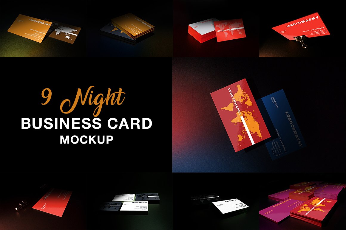 55 business card psd mockup templates decolore 9 night business card mockup reheart Images