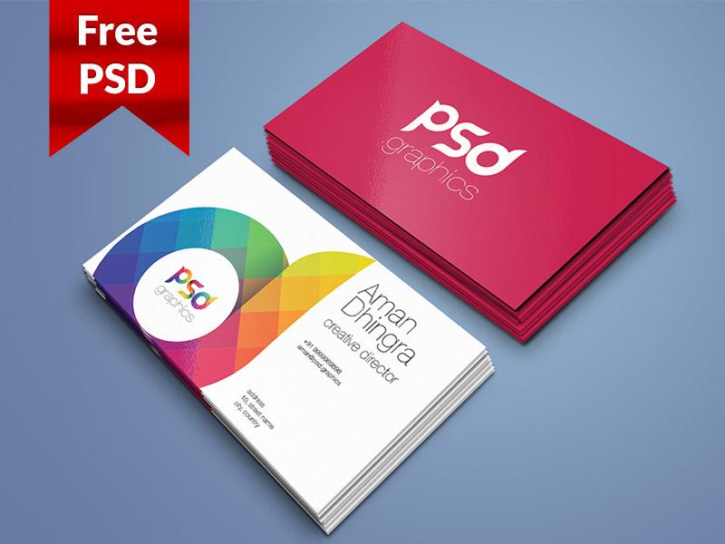 55 business card psd mockup templates decolore business card mockup template free psd reheart Choice Image