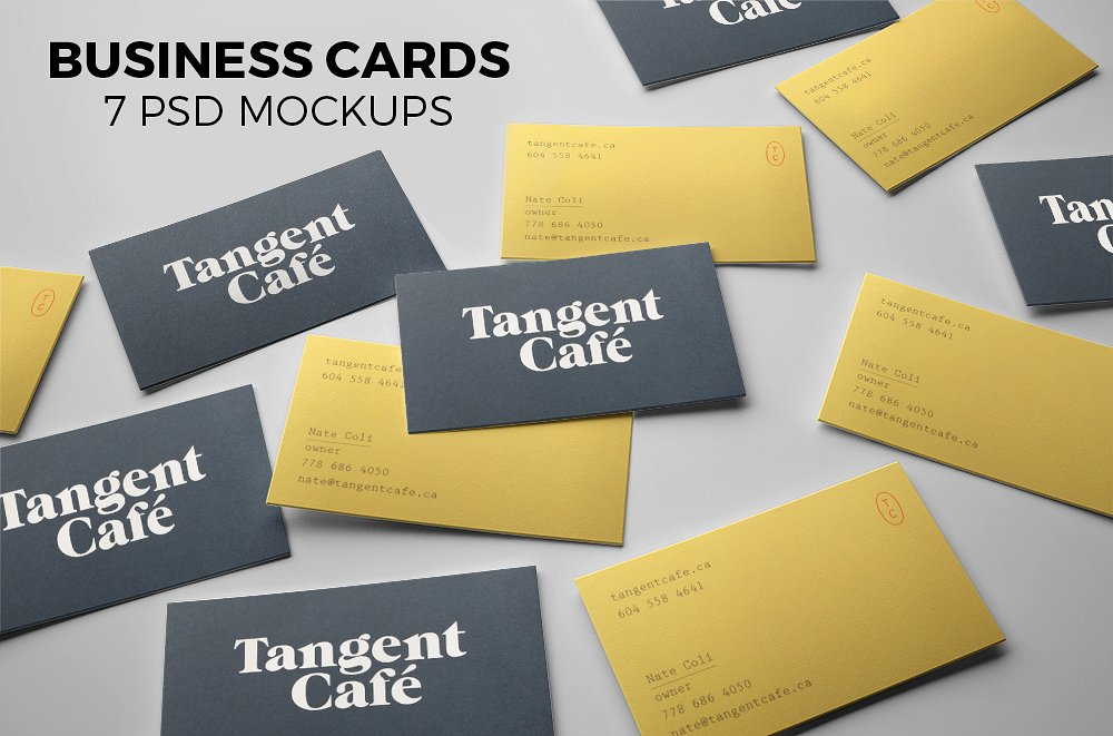 55 business card psd mockup templates decolore business cards 7 psd mockups reheart Choice Image