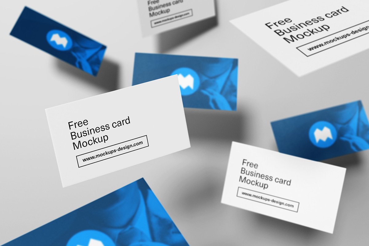55 business card psd mockup templates decolore free flying business card mockup magicingreecefo Images