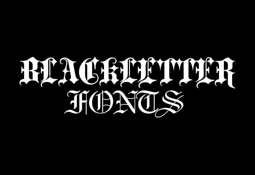 40 Beautiful Blackletter Fonts For Designers Decolore Net