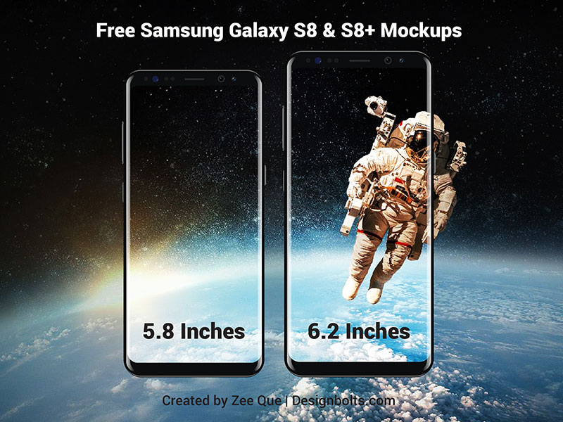 Free Samsung Galaxy S8 & S8 Plus Mockup Vector Files
