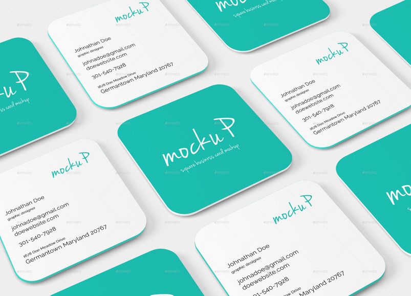 55 business card psd mockup templates decolore square rounded corner business card mockup reheart