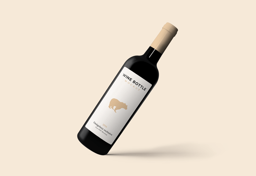 50+ Best Wine Bottle PSD Mockup Templates | Decolore.Net