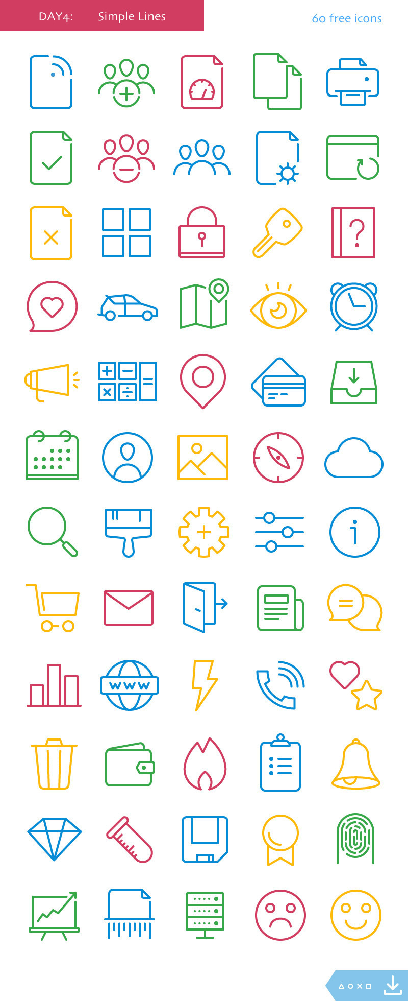 50+ Best Free Icons of 2017 | Decolore Net