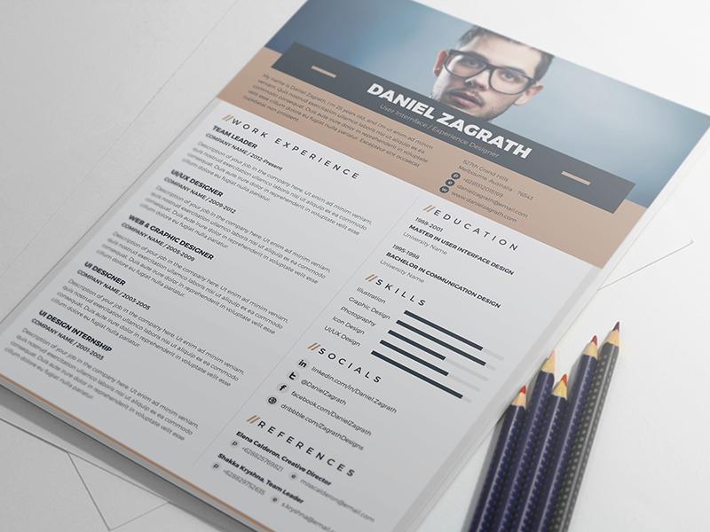 50 Best Clean Useful Cv Resume Templates Decolore