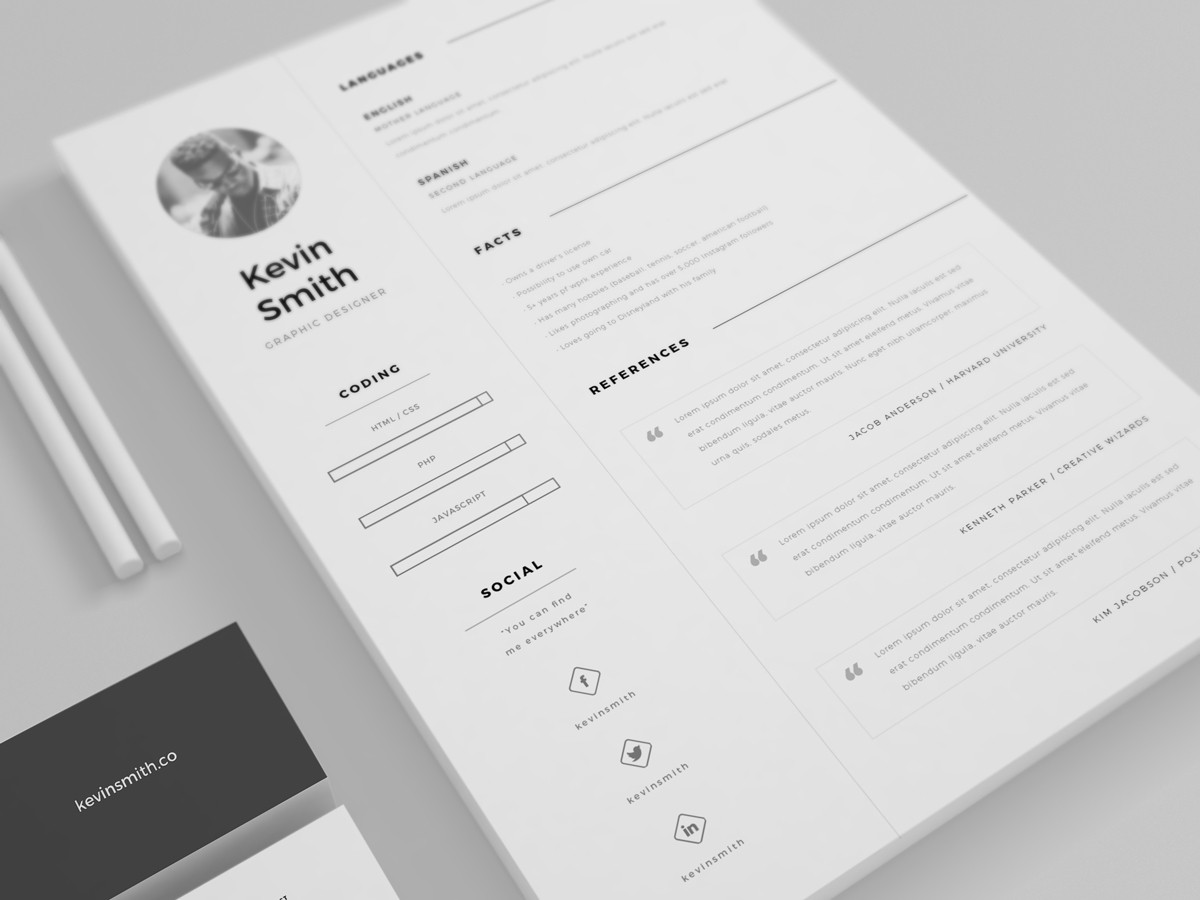 free cleam minimal resume template - Best Template For Resume