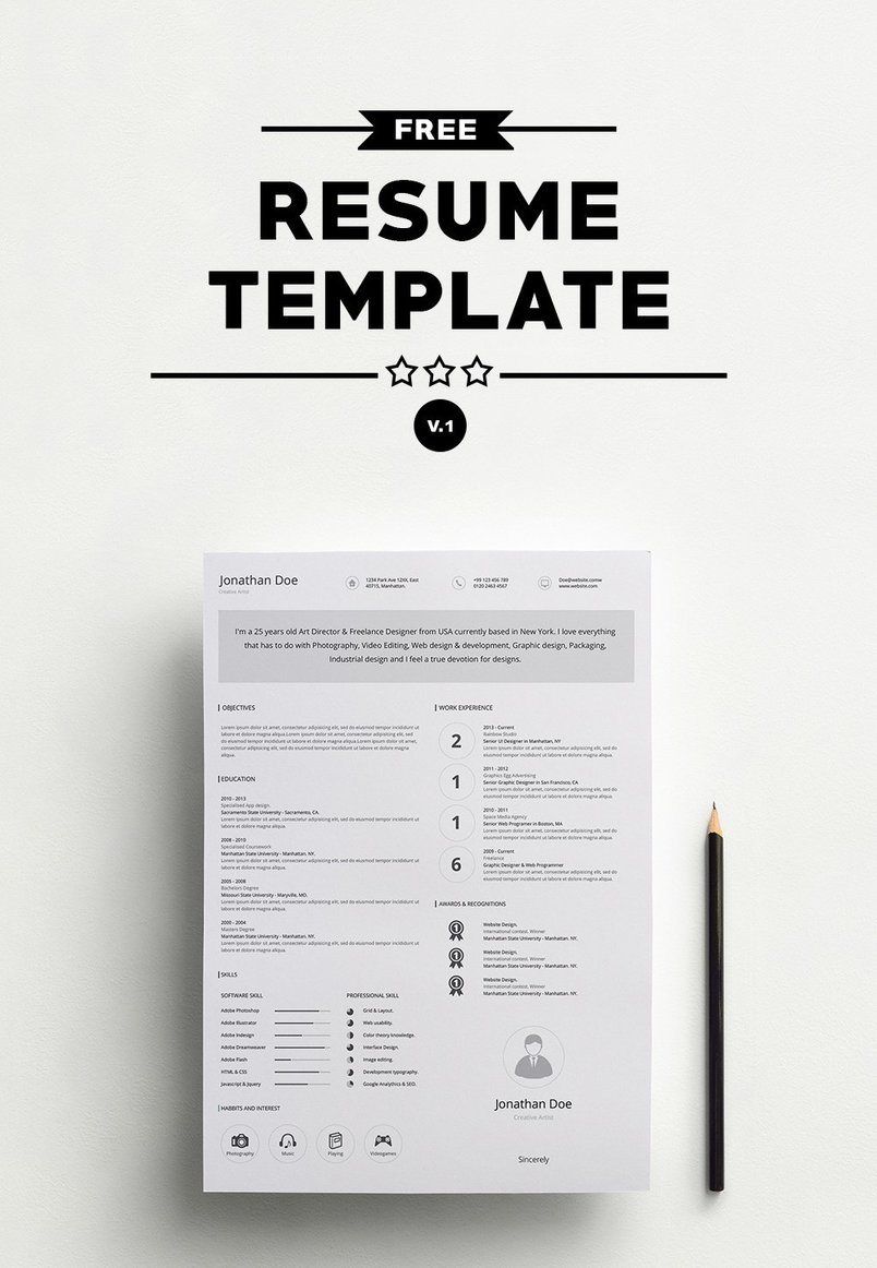 50+ Best Clean & Useful Cv / Resume Templates | Decolore.Net