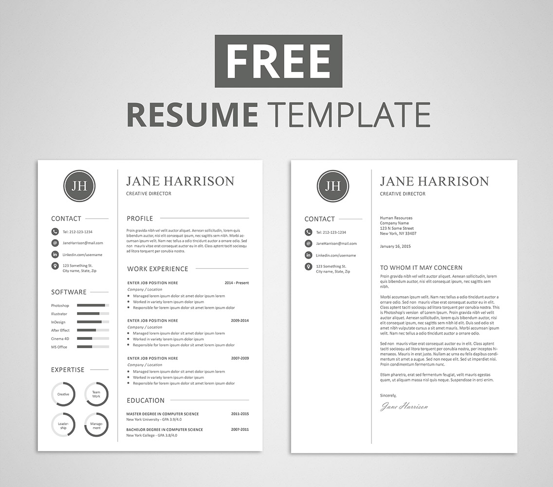 Free Resume Template  Clean Resume Templates