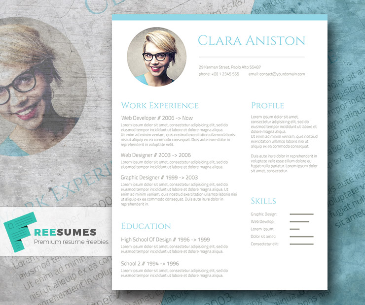 free resume template - Free Resume Templates For Word