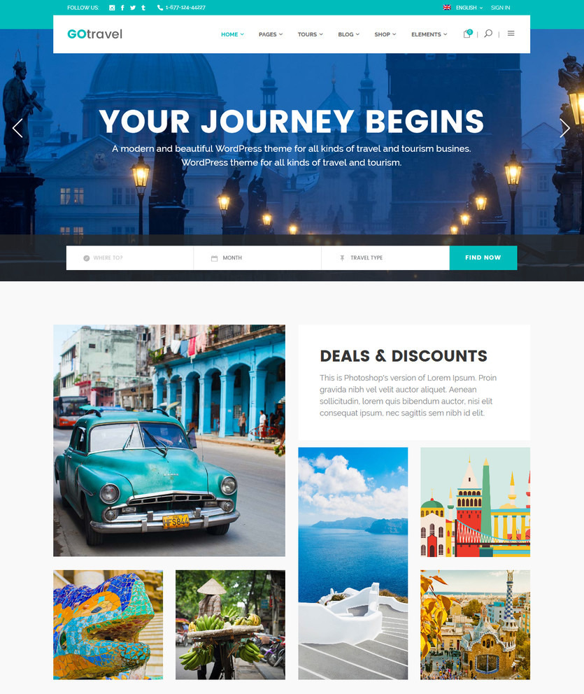 25+ Travel WordPress Themes Perfect for Hotels & Travel Agencies