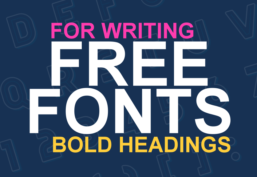 free headers for writing websites