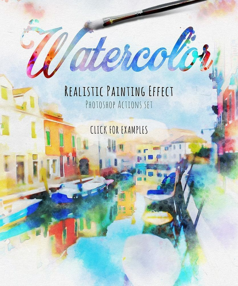 19 Artistic Watercolor Sketch Painting Effect Photoshop Actions