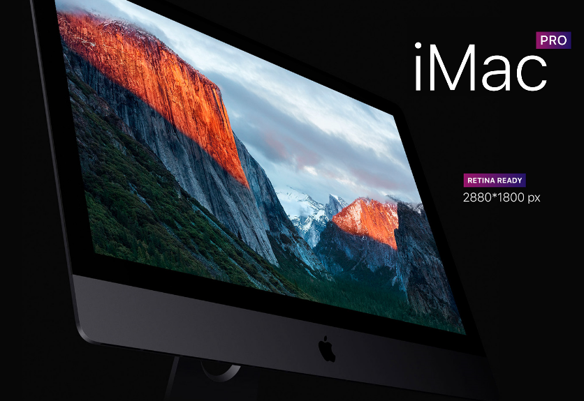 20  apple imac pro psd mockup templates