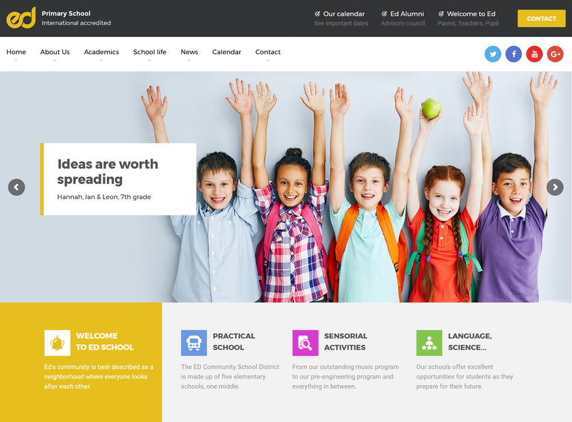 Beautiful School Website Design Ideas Contemporary - Interior Design ...