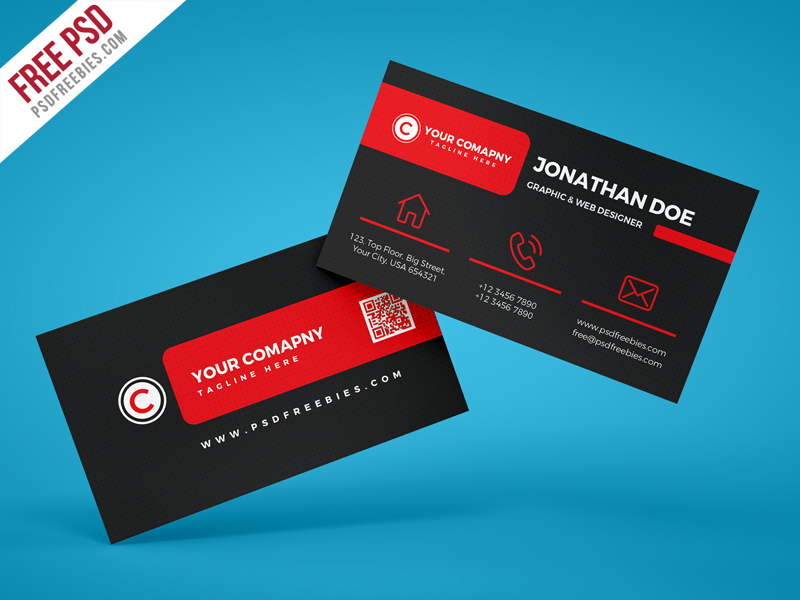 45 best business card design psd templates decolore black corporate business card psd template accmission Choice Image
