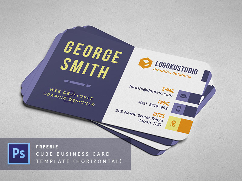 45+ Best Business Card Design PSD Templates | Decolore.Net