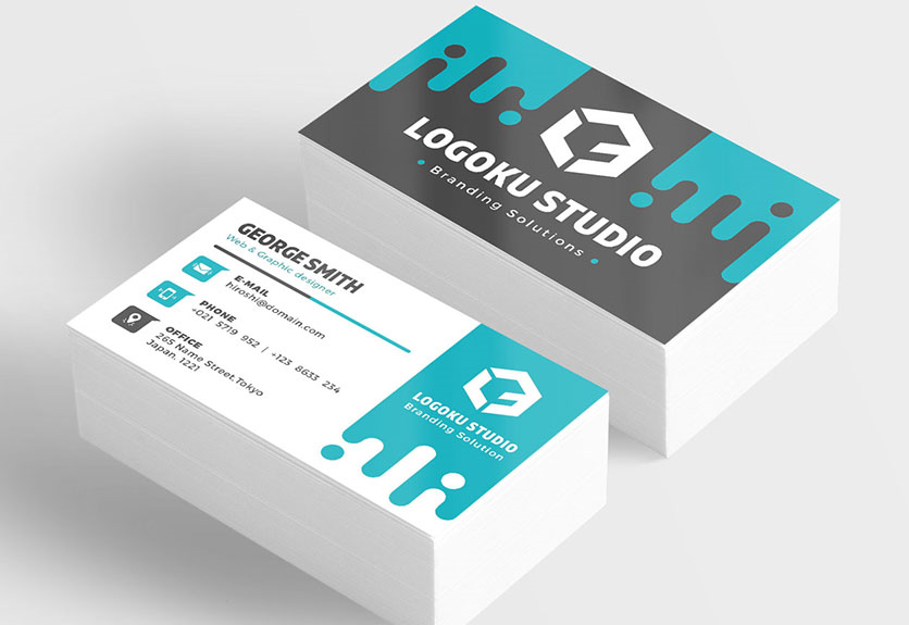 45 best business card design psd templates decolore net for Business card presentation template psd