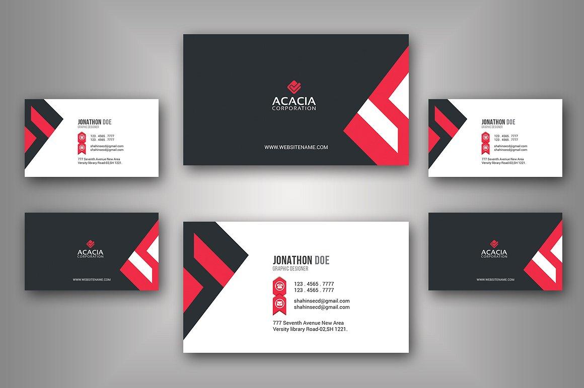 45+ Best Business Card Design PSD Templates | Decolore.Net