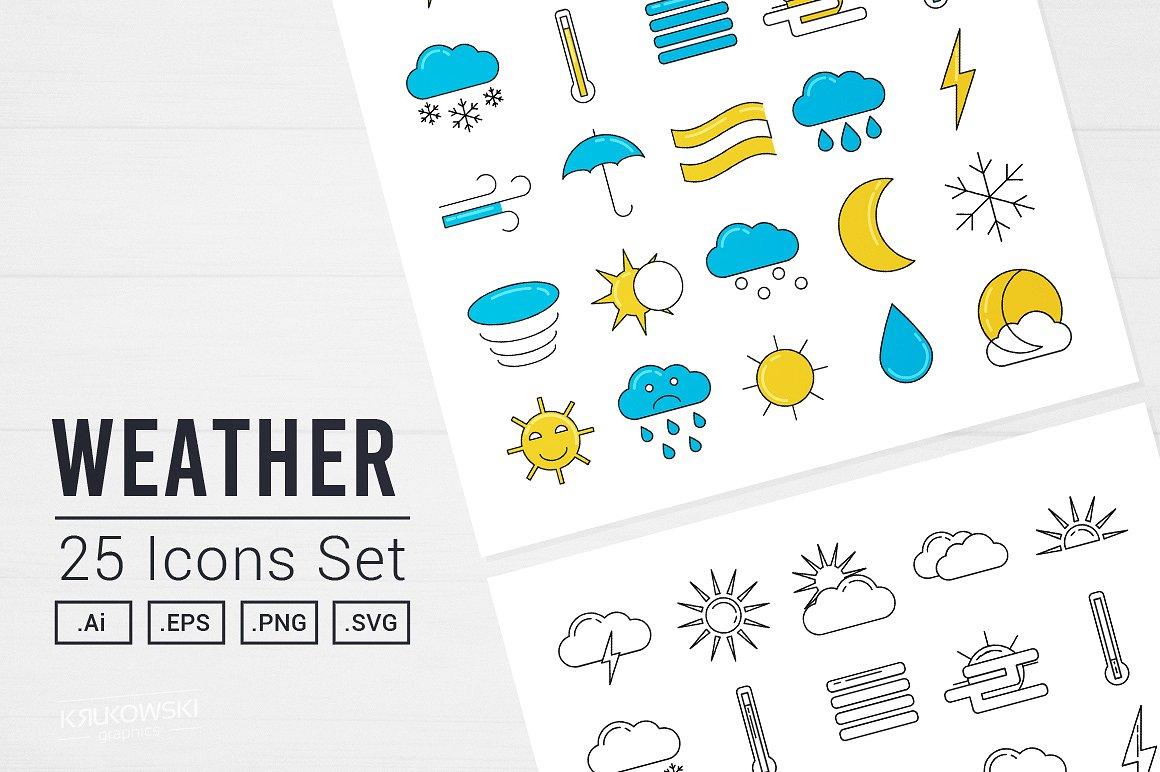 40+ Best Weather Forecast Icon Sets | Decolore Net