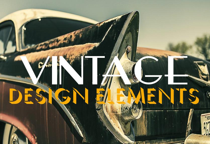 40+ Vintage Design Elements - Graphics, Backgrounds, Fonts