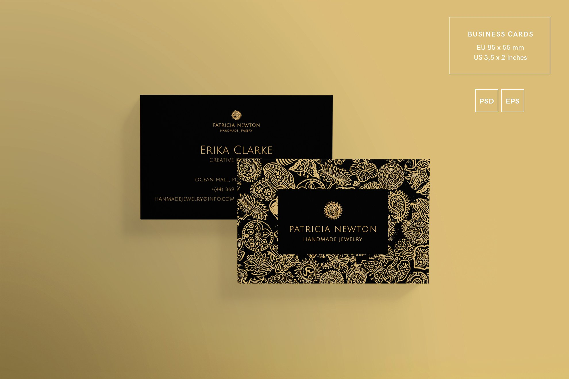 30 best beauty fashion business card psd templates decolore business card handmade jewelry reheart Image collections