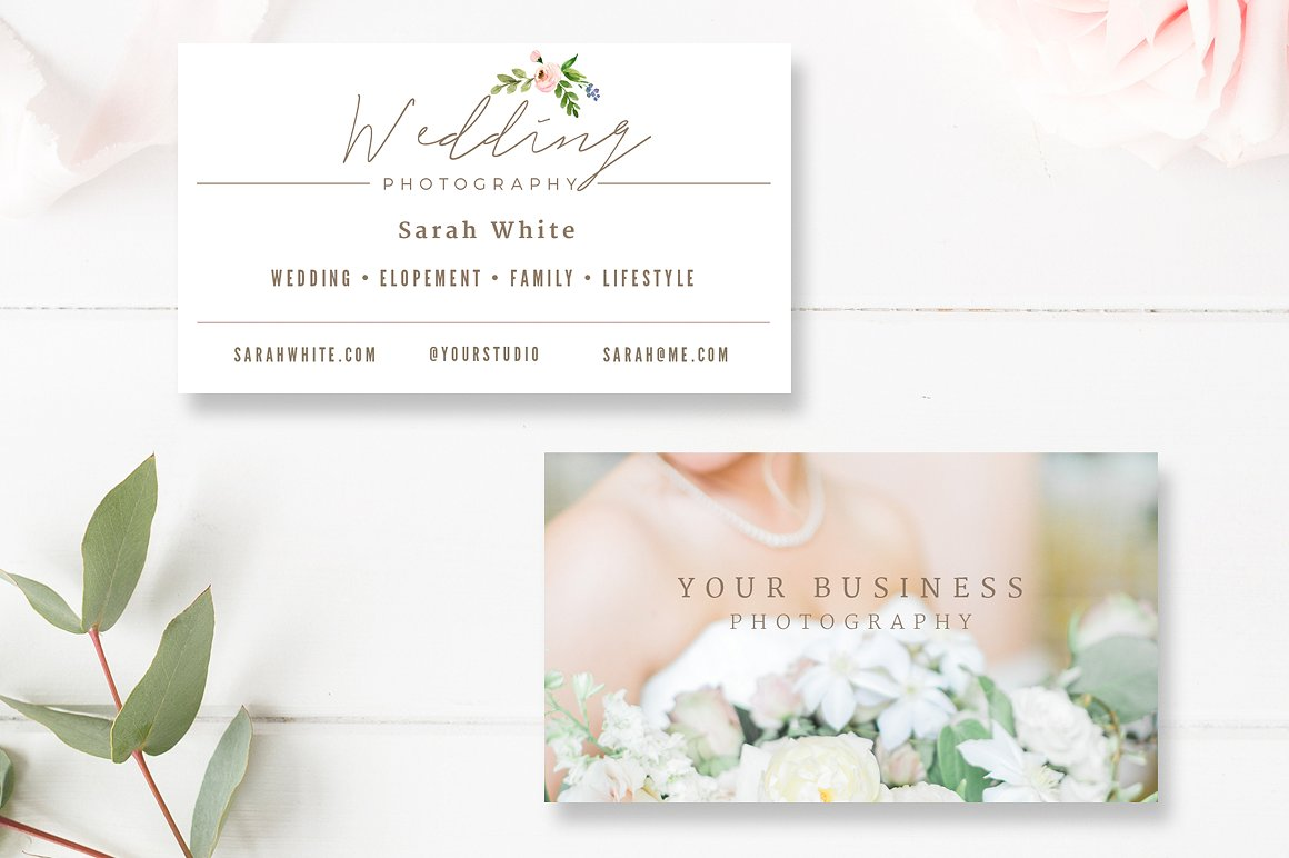 40 business card templates for photographers decolorenet for Wedding photography business cards