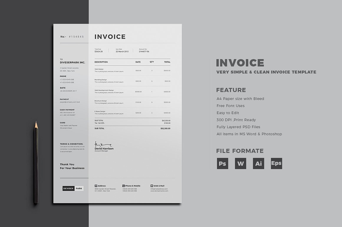 30+ Simple, Customizable Invoice Templates | Decolore.Net