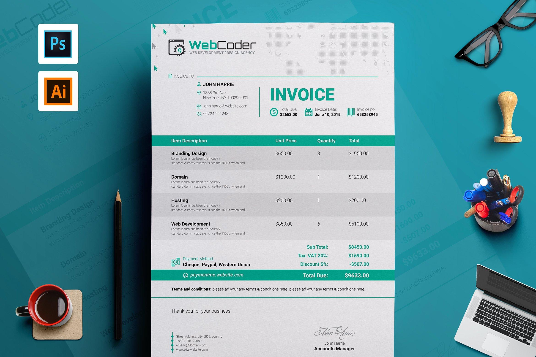 30 simple customizable invoice templates decolore net