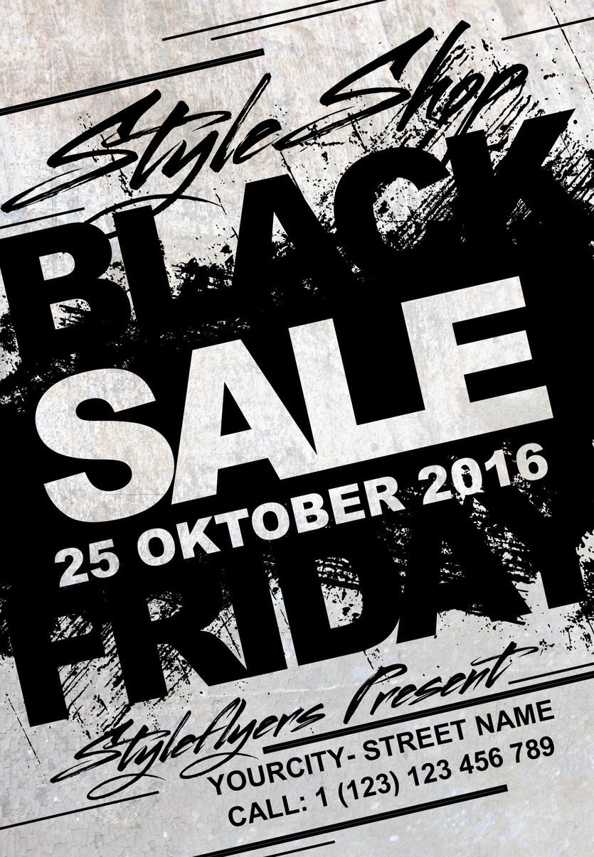 black friday sale free psd flyer template - Free Psd Flyer Templates