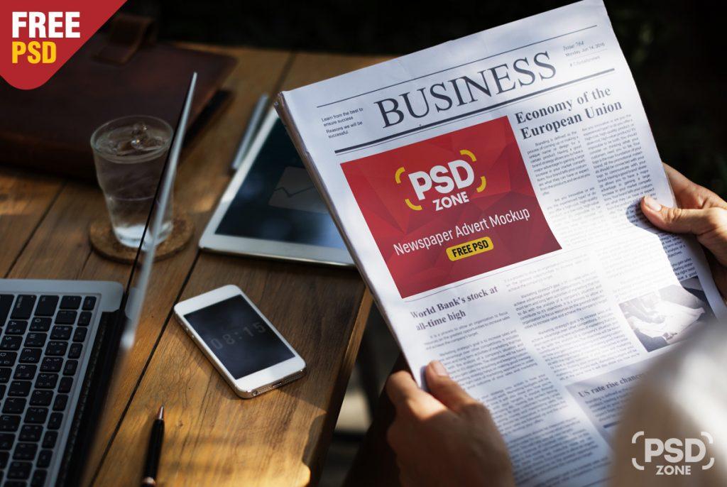 25  best newspaper advertisement psd mockups