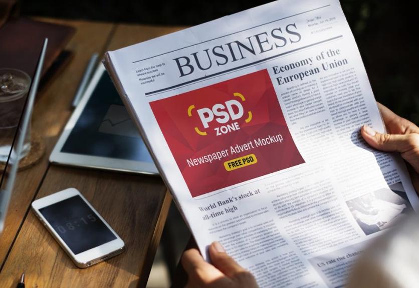 25 Best Newspaper Advertisement Psd Mockups Decolore