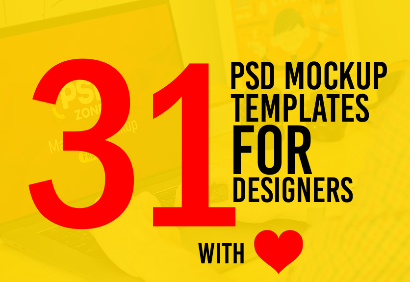 31 Free PSD Mockup Templates for Designers | Decolore.Net