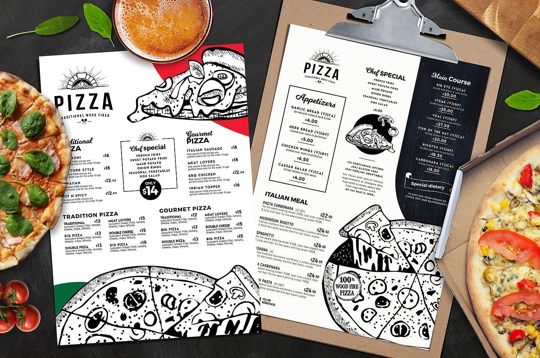 Großartig Kostenlose Pizza Menü Vorlagen Ideen ...