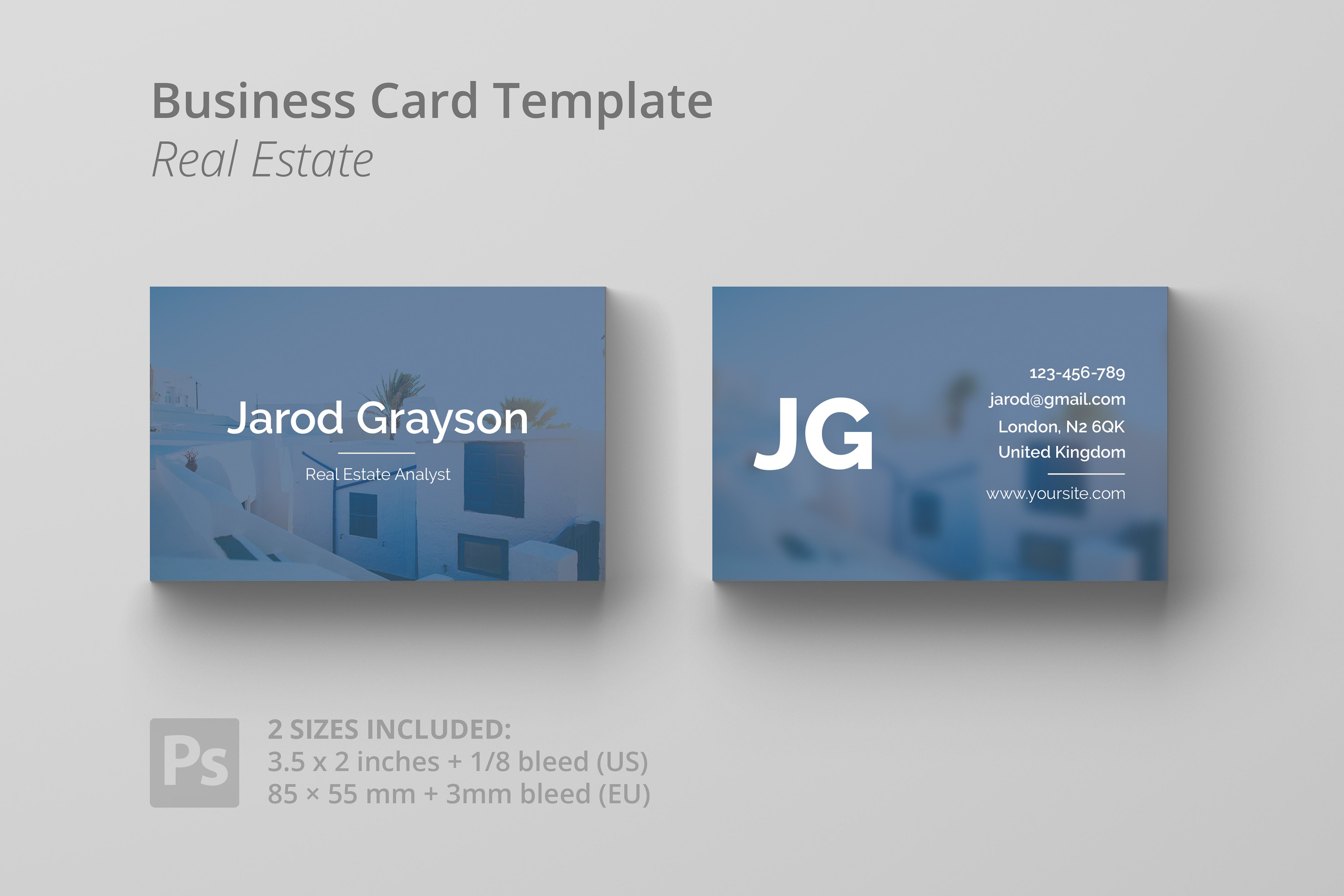 30 modern real estate business cards psd decolorenet for Real estate business cards templates free