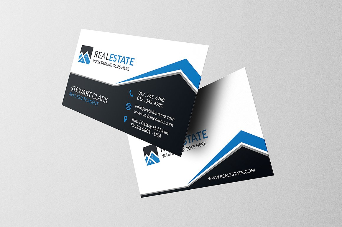 30 modern real estate business cards psd decolore creative real estate business card reheart Choice Image
