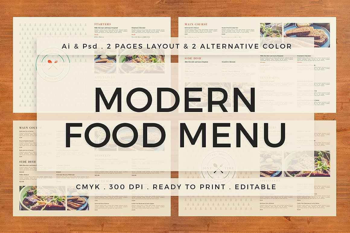 40+ restaurant / food menu design psd templates | decolore