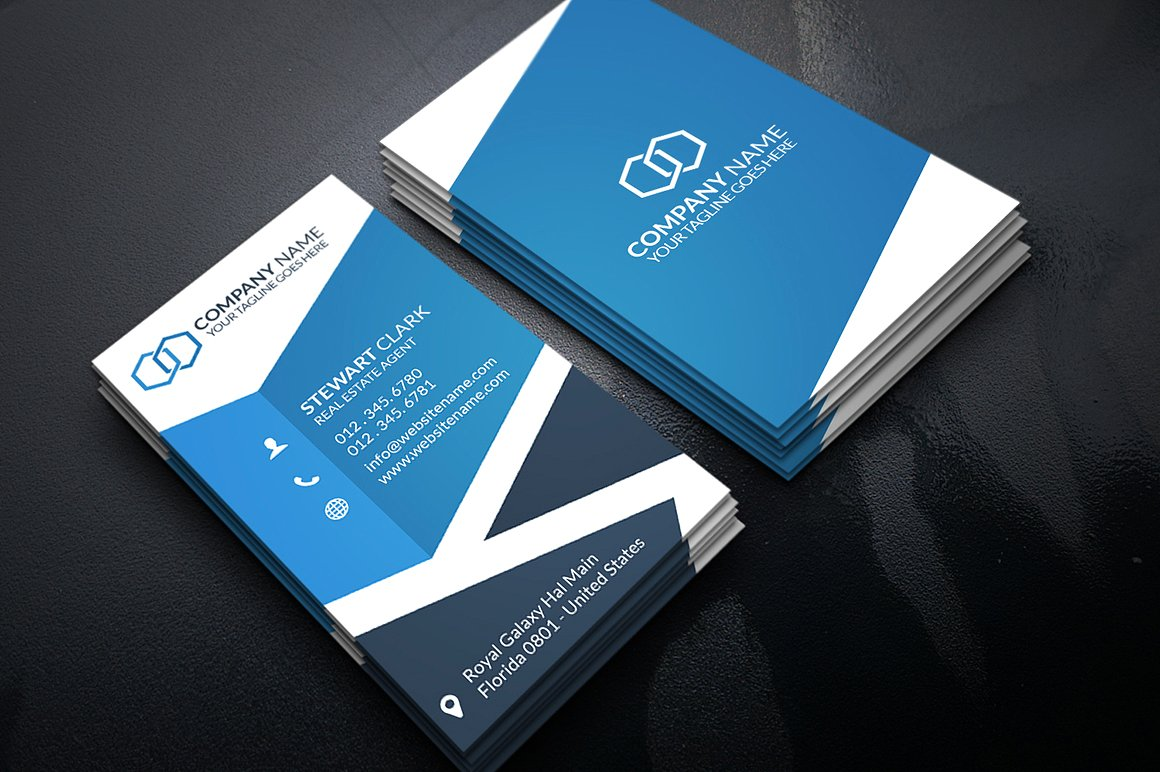 30+ Modern Real Estate Business Cards PSD | Decolore.Net