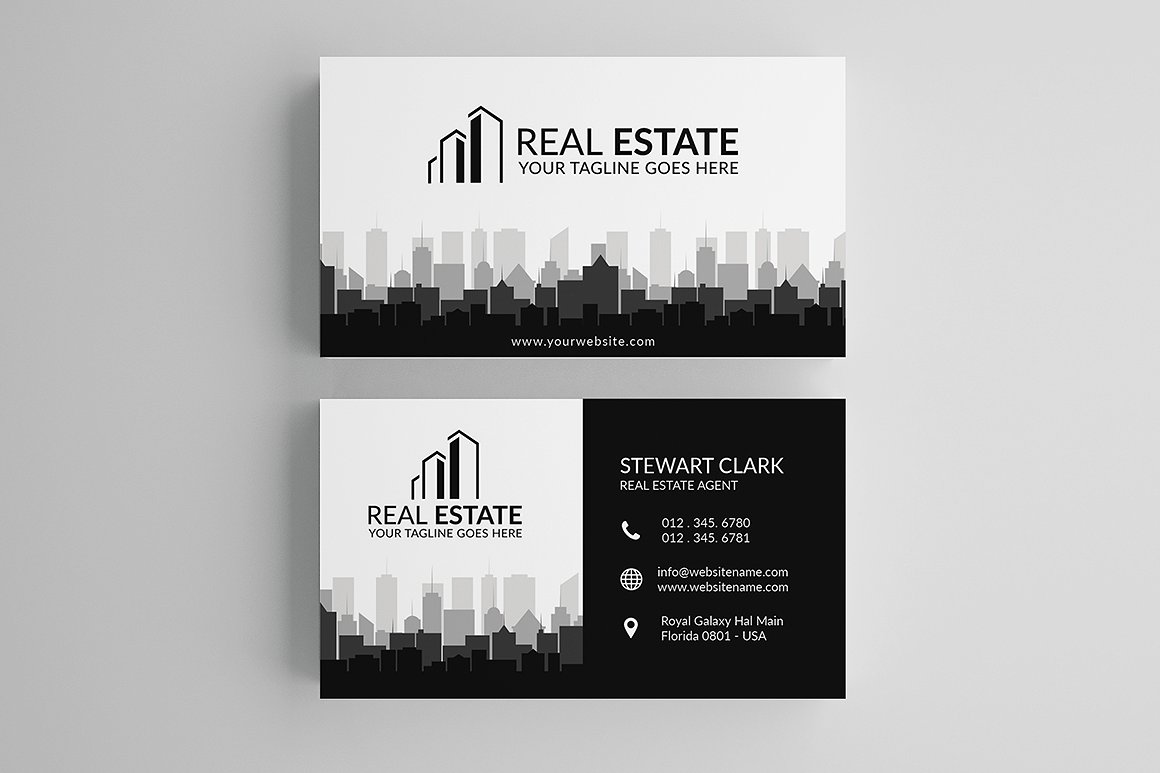 30 modern real estate business cards psd decolore real estate business card template fbccfo Choice Image