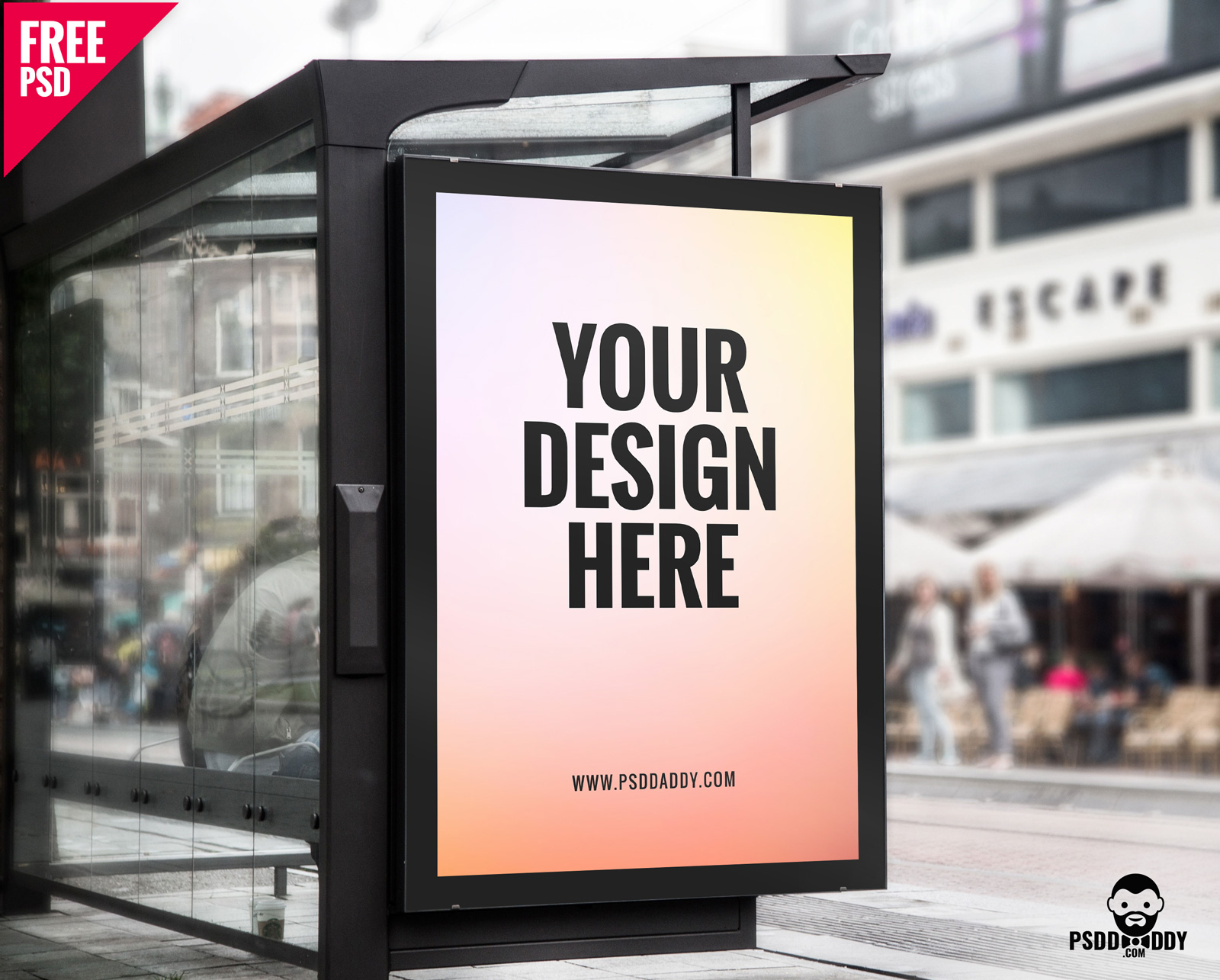 35+ Realistic Bus Stop Advertising PSD Mockup Templates | Decolore Net